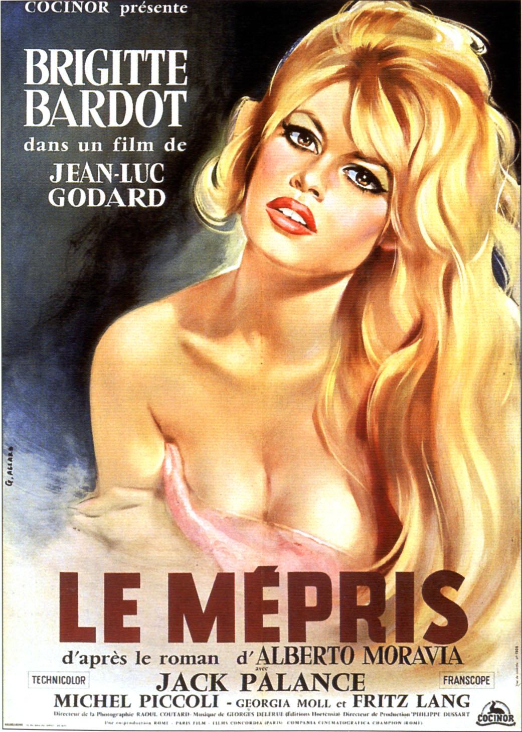 Les plus belles affiches de cinéma Le-mepris