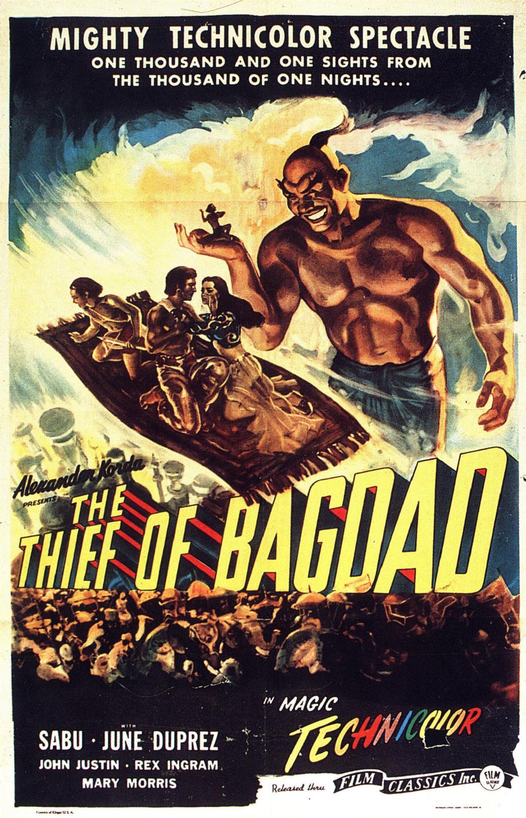 Le Voleur de Bagdad affiche