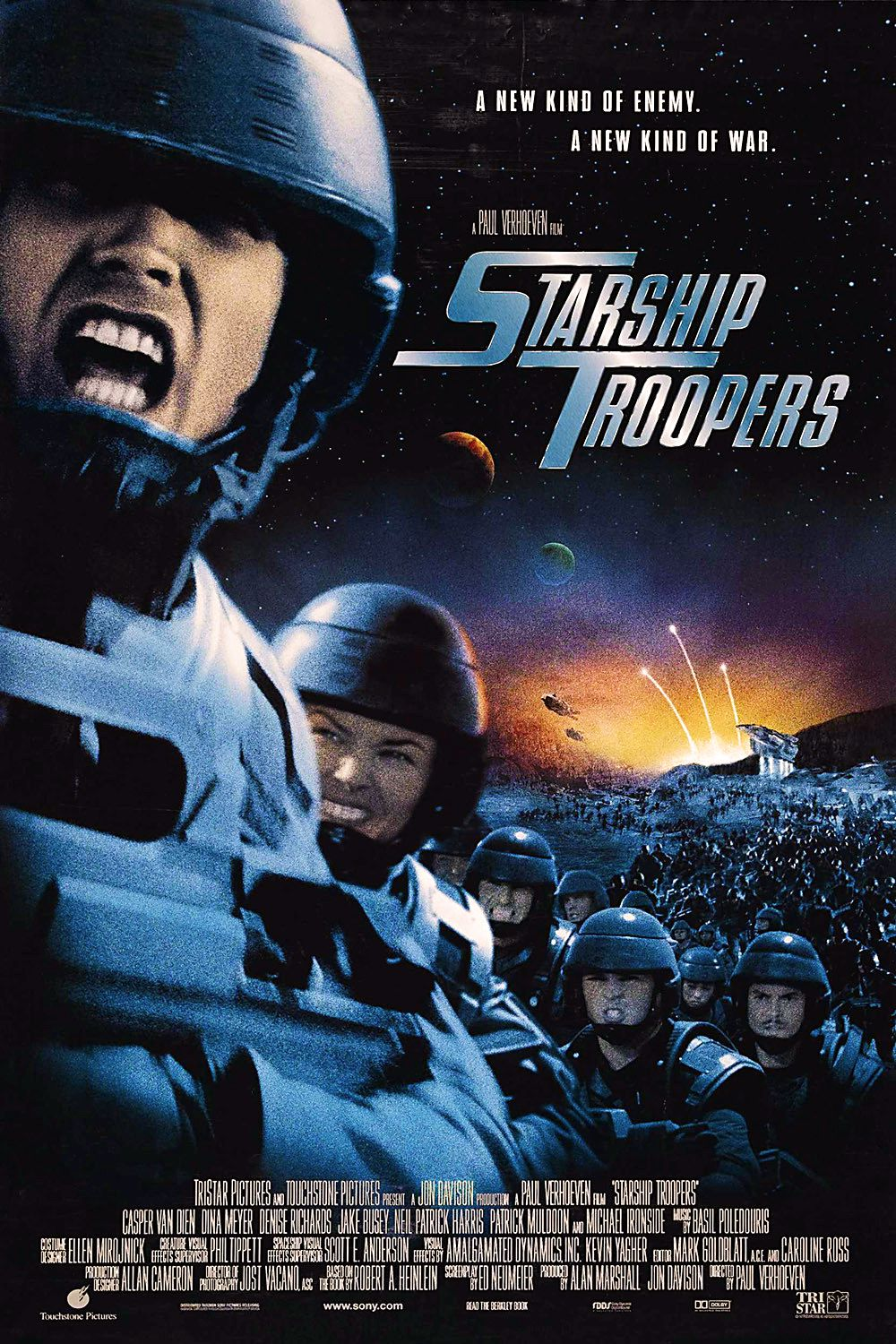 a review of the movie starship troopers by paul verhoeven Starship troopers movie poster - paul verhoeven - robert a  of the film's contemporary reviews as well: paul verhoeven's starship troopers.